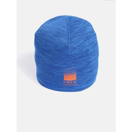 HRX by Hrithik Roshan Unisex Blue Solid Beanie