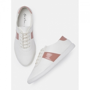 Mast & Harbour Women White Sneakers