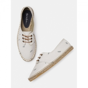 Mast & Harbour White Printed Sneakers