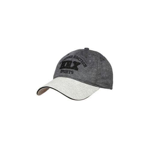 HRX by Hrithik Roshan Men Charcoal Grey Embroidered Cap