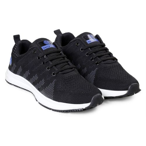 Bacca Bucci Mens Rapid Sports Casual Running Shoes Walking Jogging Gym Sneakers Comfortable Breathable Trainers Athletic (size UK-6 to 12) Walking Shoes For Men(Black)