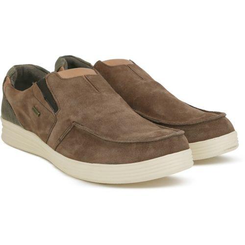 1faf0d8fad Buy Woodland Slip on Sneakers For Men(Brown) online | Looksgud.in