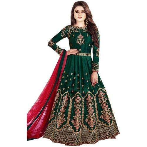 VISENA FAB Anarkali Gown(Green)