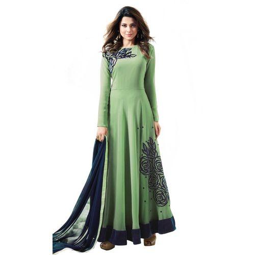 Rahi Fashion Anarkali Gown(Green)