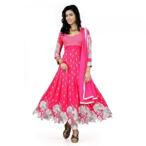 Mert India Anarkali Gown(Pink)