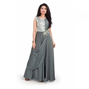 BLUE DOVE Women's Grey Imported Fabric Gown