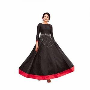 LADIES QUEEN Women's Faux Georgette Long Anarkali Suit (Free Size)