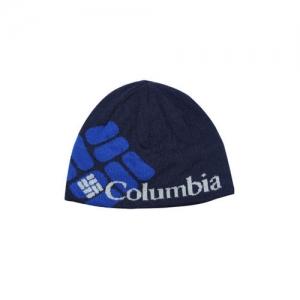 Columbia Unisex Navy Blue Printed Beanie