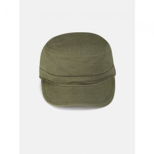 Roadster Unisex Olive Green Solid Baseball Cap