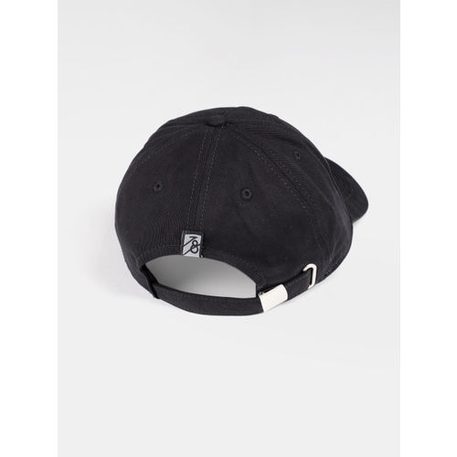Roadster Unisex Black Printed Baseball Cap