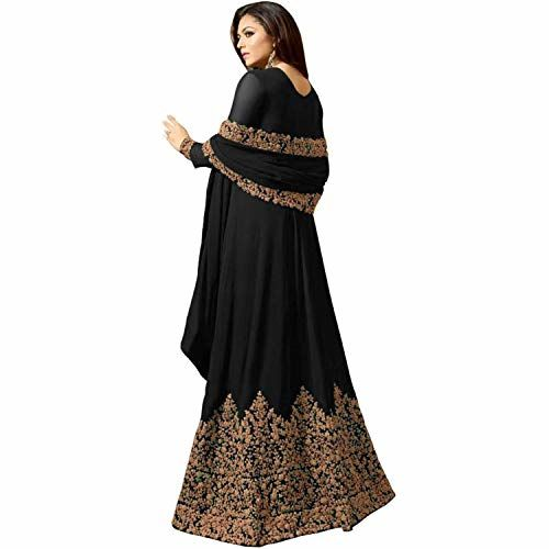 Home Fashion Women Georgette Long Anarkali Salwar Suit/Gown With Dupatta