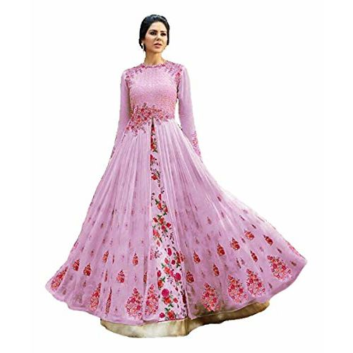 Parth Fashion Pink Heavy Embroidered Work Bridal Gown and Anarkali Dress