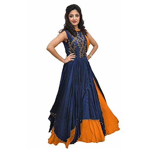 BK enterprise Women's Banglory Gown With Jacket Dress
