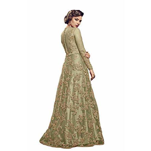 Amiira Green Net Anarkali Gown