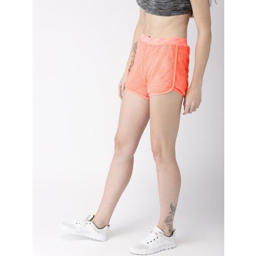 Mast & Harbour Neon Orange Regular Shorts