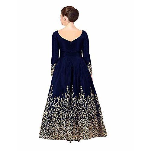 Drashti villa Taffeta Silk Semi Stitched Anarkali Gown
