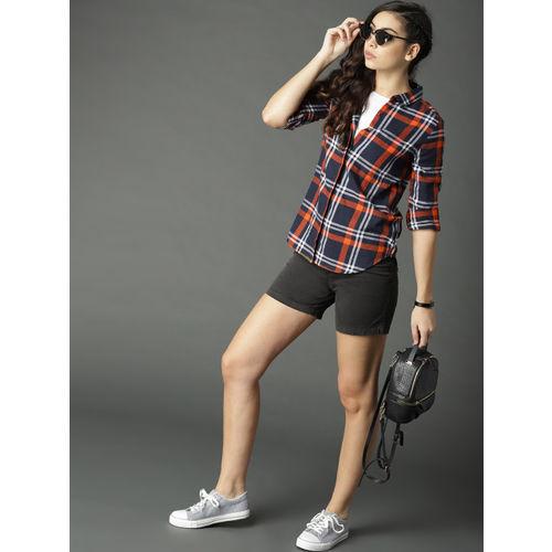 Roadster Women Black Solid Regular Shorts