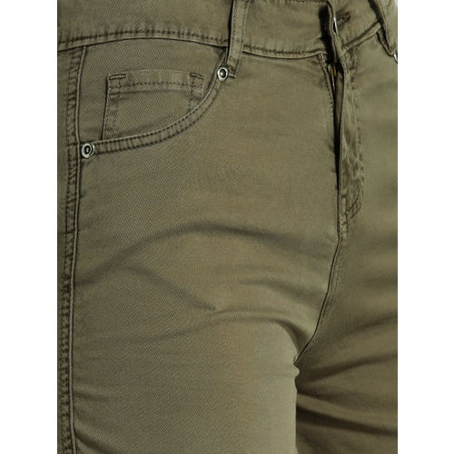 Roadster Women Brown Solid Chino Shorts
