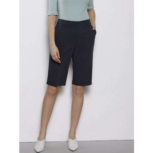 DOROTHY PERKINS Women Navy Blue Solid Regular Fit Shorts