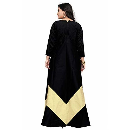 PARI FASHION Women's AND Girl's Fully Stitched Silk Gown's Embroidreyde And cute pest Long Anarkali Gown's DressFor Women & Girls