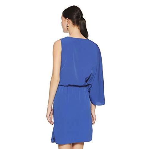 NUSH by Anushka Sharma Blue Synthetic one-Shoulder Dress