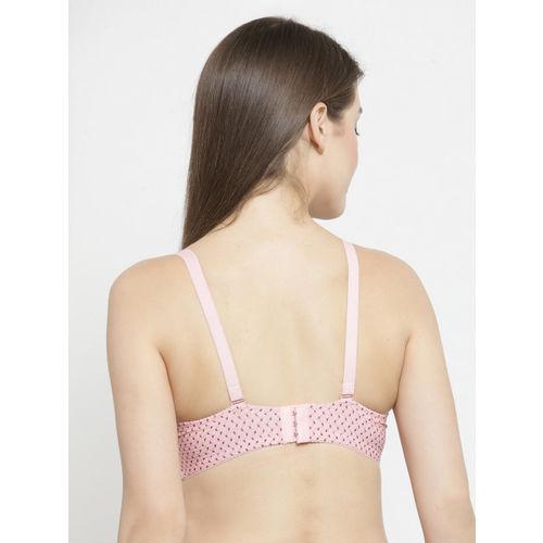 PrettyCat Pink Printed Underwired Lightly Padded T-shirt Bra PC-BR-5166-PNK