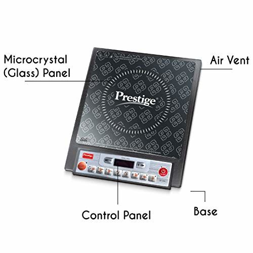 Prestige PIC 14.0 1900-Watt Induction Cooktop with Push Button (Black)