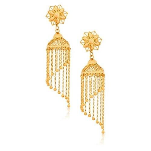 Senco Gold 22k Yellow Gold Jhumki Earrings