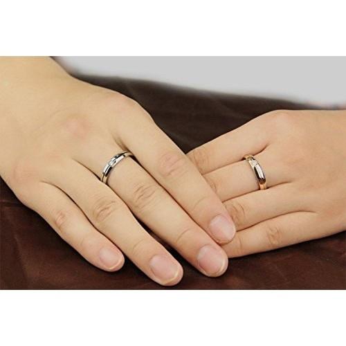 Girlz! Titanium Cubic Zircon Couple Rings