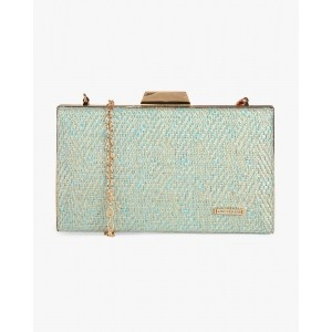 Lino Perros Green Faux Leather Clutch