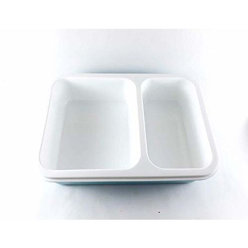 Tuelip Leakproof Slim, Microwave Safe 2 Compartment Lunch Box for Office, Kids, School Going Children Boys, Girls