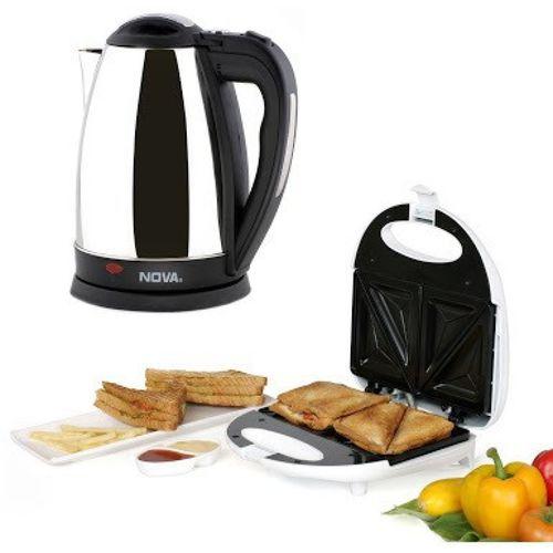 Nova Breakfast Delite Combo Kit (Set of 2) Toast(White, Black, Silver)