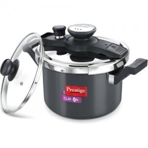 Prestige Clip-On 5 L Induction Bottom Pressure Cooker(Aluminium)