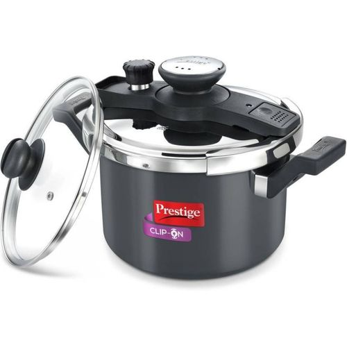 Prestige Clip-On 5 L Induction Bottom Pressure Cooker(Aluminium)