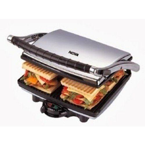 Nova NT 233 HDG 750-Watt 4-Slice Grill Sandwich Maker (Black/Grey)
