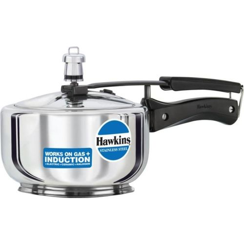 Hawkins HAWKINS STAINLESS STEEL PRESSURE COOKER 1.5 LITRES 1.5 L Induction Bottom Pressure Cooker(Stainless Steel)