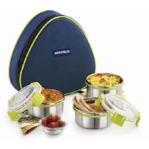 Magnus Tiffin 3 Containers Lunch Box(500 ml)