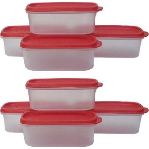 Tupperware Plastic Container Set, 500ml, Set of 8, Multicolour