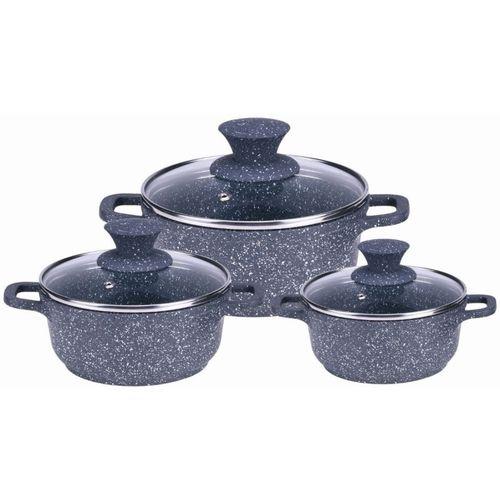 Wonderchef Wonderchef Granite Die-Cast Casserole Set (Induction Base) Induction Bottom Cookware Set(PP (Polypropylene), 3 - Piece)