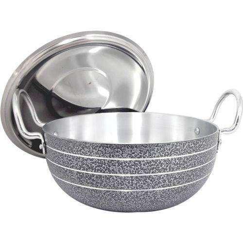 bartan hub kadhai with lid 6 Cookware Set(Aluminium, 1 - Piece)