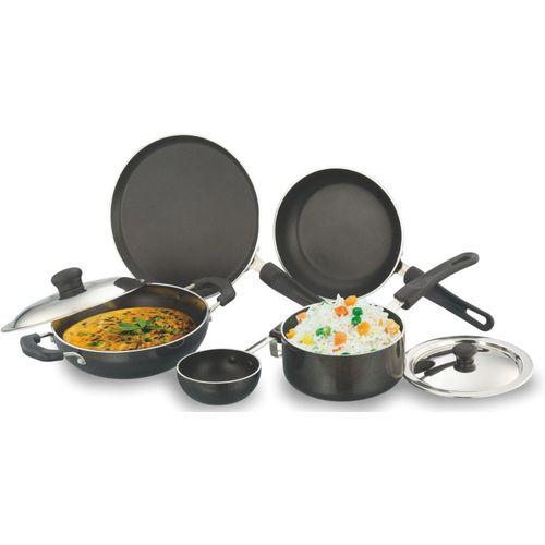 Sowbaghya Non stick Cookware Set(Aluminium, 7 - Piece)
