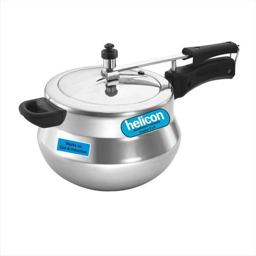 HELICON Premium Aluminium Handi 5 L Induction Bottom Pressure Cooker(Aluminium)