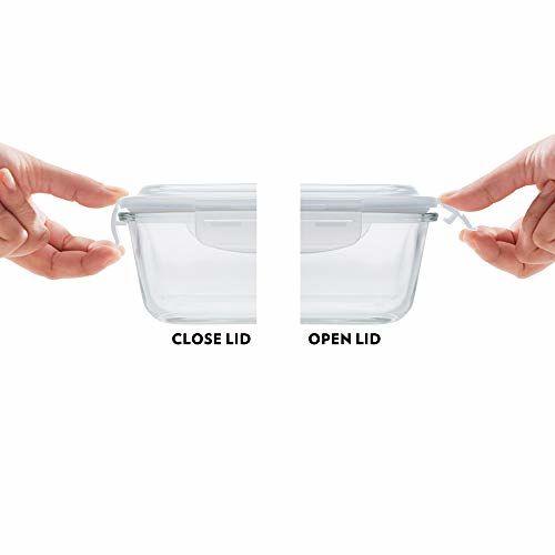 Borosil Klip-N-Store Glass Container, 120ml, Transparent