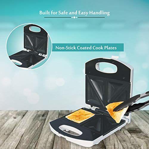 Inalsa Easy Toast 750-Watt 4 Slice Sandwich Toaster (Spray Painted White)