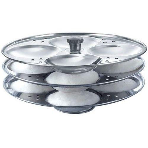 PARVA IDLI STAND (12 IDLI'S) Standard Idli Maker(3 Plates)