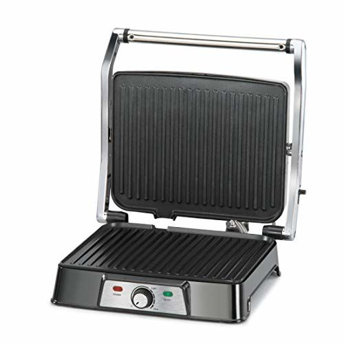 Glen 2000W Stainless Steel Grill and Sandwich Maker (Black)