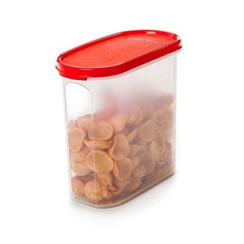 Signoraware Modular Oval Plastic Container Set, 1.7 litres, Set of 3, Red