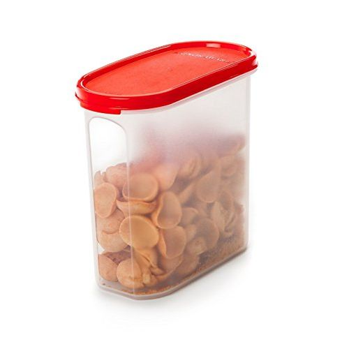 Signoraware Modular Oval Plastic Container, 1.7 litres, Red