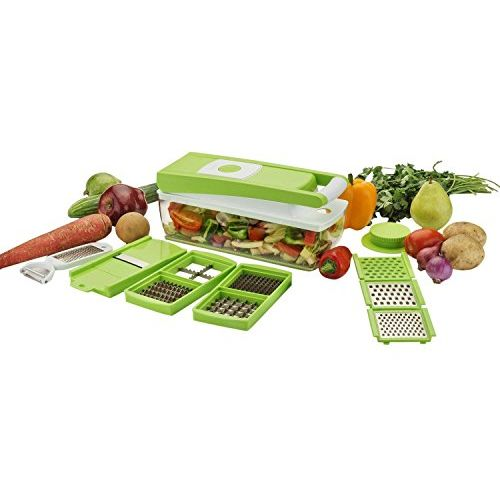 Floraware Plastic Vegetable Cutter Set, 13-Pieces, Green