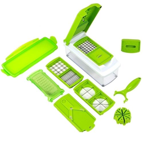 Floraware Vegetable Multi Chopper - 11 in 1 Slicer & Dicer Grater Vegetable & Fruit Chopper(1 set 11 in 1)